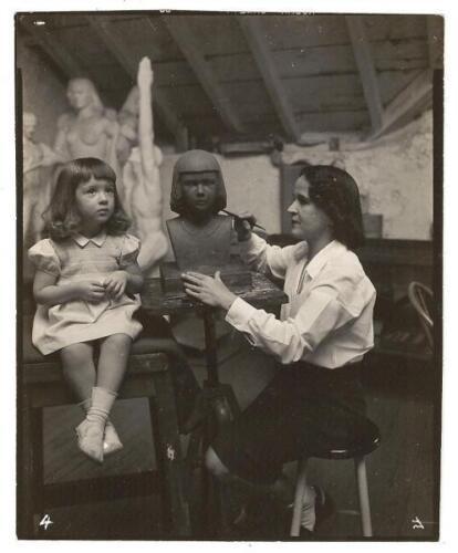 Gibbs working on daughter's portrait