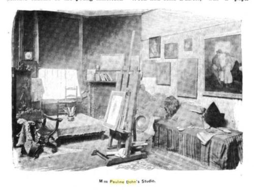 her studio c1897